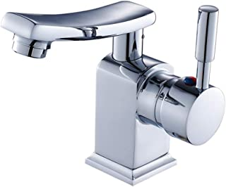 SXYULQQZ Full Copper Rotating Bathroom Basin Washbasin Bathroom Hot and Cold Imperial Cap Bathroom Faucet Five-Year Warranty