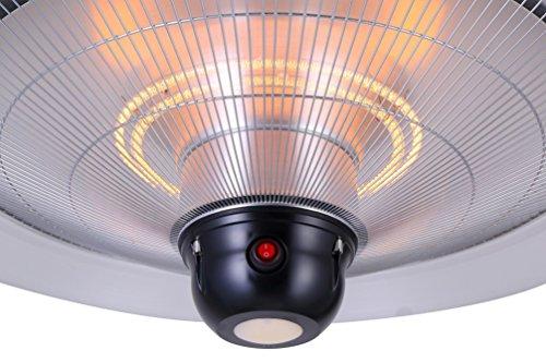 GREADEN – Infrarot-Hängeheizstrahler SATURN – Mit Fernbedienung und LED-Lampe – Terrassenheizstrahler – GR2RT3 - 4