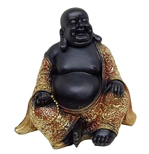 Indian Handicrafts Feng Shui Cute Laughing Happy Buddha Statue for Good Luck Wealth, Money and Happiness