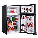 TACKLIFE Compact Refrigerator 3.1 Cu.Ft, 2 Door Mini Fridge with Freezer, Perfect for Office, Dorm,...