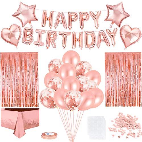 decorazioni natalizie rosa gold Decorazioni di Compleanno Kit in Oro Rosa