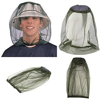 Vorcool Moustiquaire filet anti-insectes avec Luckstone souple et résistant pour la pêche, le camping, l'apiculture activités en plein air