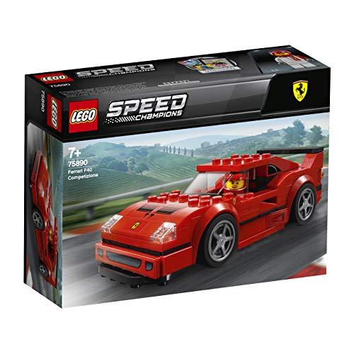 LEGO 75890 SpeedChampions FerrariF40Competizione, Set de Construction, Véhicules Jouets pour Enfants, modèle de Pack dextension Forza Horizon 4