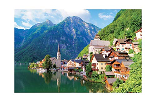 [ Puzzle life ] Hallstatt, Austria | 1000 Piece - Large Format Jigsaw Puzzles. Free Logic Games for Couples, Child, Teens, Senior. Brain Puzzles & Fun Family Games. Beautiful Picture & Puzzles.