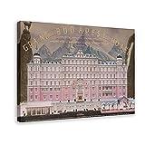 Grand Budapest Hotel Poster randlos Vibrant Movie Poster