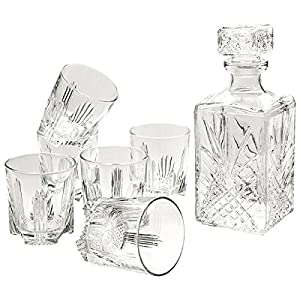 Selecta Whiskyset Whisky-Set 6 Gläser + Karaffe Italy Geschenk