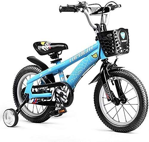 FAMILI DA Kinderwagen Boy's Bike Girl's Bike mit Trainingsr rn und Korb, Kinder. 12 Zoll, 14 Zoll, 16 Zoll, 18 Zoll, Blau oder Rot Für Neugeborene-Blau,18 inch
