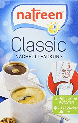 Natreen Süßstoff Classic/Feine Süße Refill 1500er, 2er Pack (2 x 96 g)