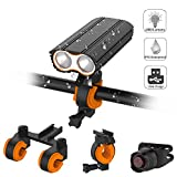 Bike Light Front and Rear Super Bright, Acsin Bicycle Headlight & Tail Light