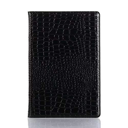 MAXJCN Funda para teléfono compatible con Huawei MediaPad M6 de 10,8 pulgadas (2019), piel de cocodrilo con soporte ligero para tableta, a la moda, duradera (color: negro)