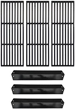 Hongso Repair Kit Porcelain Coated Cast Iron Grill Grates and Porcelain Steel Heat Plates Replacement product image