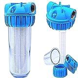 Basal Vorfilter 1'' - 5000 L/h für Garten Pumpen/Hauswasserwerke / Schmutz Filter/Sandfilter / Plus Wandhalterung und Filterschlüssel