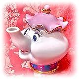 アンティーク ディズニー Disney美女と野獣ポット夫人ティーポット金縁オブジェ紅茶猫脚ロココアフタヌーンティーポーセリンハイハンドル