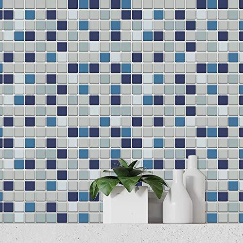 WALPLUS WT3D3019, Blue Sea Mosaic-wt3d3019, Talla única