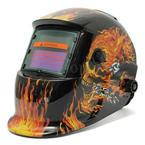 ConPush careta soldar automatica Arc Tig Mig Grinding Máscara de soldador de soldador de oscurecimiento automático solar