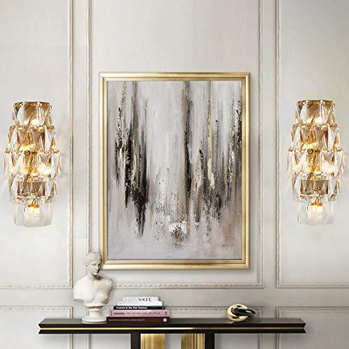 Applique Applique 30 * 60 cm américain Luxury Villa Hôtel restaurant Corridor Salon Salle d'étude