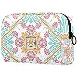 Bolsa de cosméticos para mujer, impermeable, linda moda, regalo para niña, anillo floral de verano