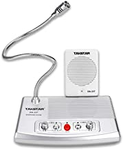 TAKSTAR desktop microphone and speaker set wired microphone bendable arm omnidirectional fully automatic call control desi...