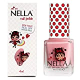 Miss Nella Cheeky Bunny Special Pink Glittery Nail Polish for Kids with Peel-off Water Based Formula by MissNella