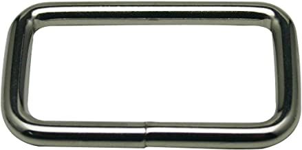 Generic Metal Silvery Rectangle Buckle 1.5