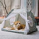 <span class='highlight'>Pet</span> Cat Tent Indoor Dog House <span class='highlight'>Bed</span> Pop Up Teepee Portable Folding Cat <span class='highlight'>Small</span> <span class='highlight'>Dogs</span> Puppy Playing <span class='highlight'>Bed</span> Safety Shelter Villa Nest with <span class='highlight'>Soft</span> Removable Cushion <span class='highlight'>for</span> Dog Cat Kitty Travel Camping