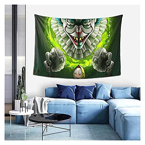 YWJFASHION Tapiz Colgante de Pared Rick y Morty Art Tapices de Pared para Sala de Estar y decoración de Paredes