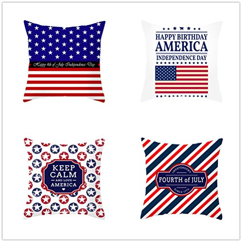 Set of 4 Pcs Throw Pillow Case Cushion Covers Five-Pointed Star Velvet Soft Superfine Fiber Square Decorative Throw Pillowcases for Living Room Sofa Car with Concealed Zip E4212 50x50cm/19.5x19.5in