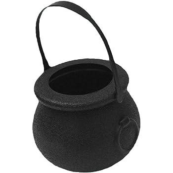 LjzlSxMF 12pcs Mini Plastique Bonbons bouilloires Seau Pot Chaudron Holder avec poign/ée pour Party Decoration Favors Noir Taille