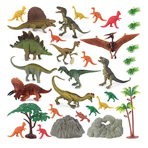 AQ89 32 PCS Mini Simulation Dinosaur Model Toy Sets Interactive Educational Toy Toys and Hobbies Education Toys