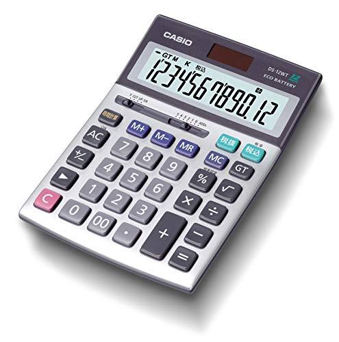 カシオ 本格実務電卓 12桁 グリーン購入法適合 デスクタイプ DS-12WT-N