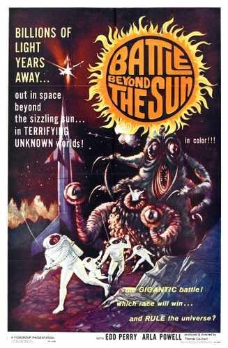 Battle Beyond Sun Poster 01 Metal Sign A4 12x8 Aluminium