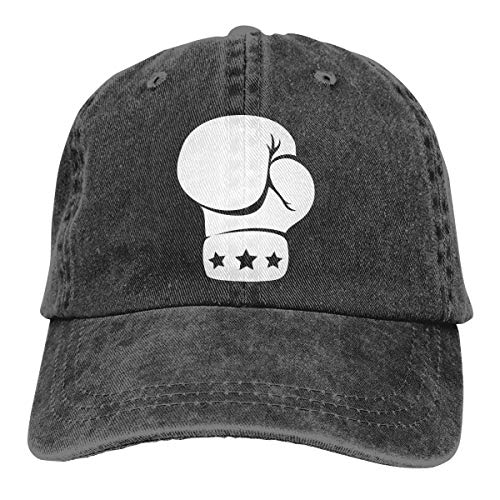 Adjustable Baseball Caps Black Vintage Washed Low Profile Mom Dad Hat-Boxing Three