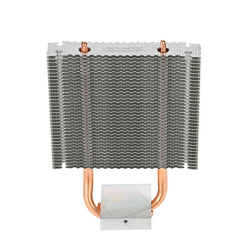 KKmoon Heatpipes Kühler, PCCOOLER HB-802 2 Aluminium Kühlkörper Motherboard/Northbridge Kühler Southbridge Kühlung Support 80mm Lüfter für Desktop-Computer