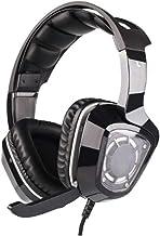 YYZLG - Cuffie da gioco stereo con microfono, isolamento acustico, controllo volume di isolamento del rumore, luce LED, cu...