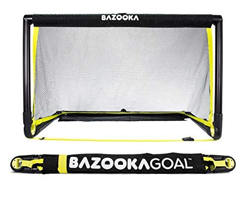 BazookaGoal Original-Fußballtor, Outdoor / Indoor-Set mit massivem Rahmen – Pop-up Aufklapptor mit 1,20 x 0,75 m