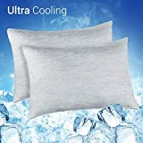 Elegear 2Pcs Cool Pillowcases for Hair and Skin, 2-in-1 Design Pillow Cases