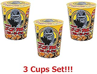 [3 Cups Set] Maruchan Go Go Curry Curry Cup Noodle Cheese Flavor