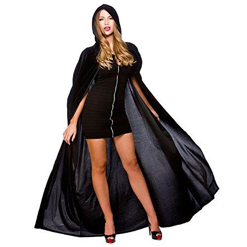 El Carnaval disfraz capa veneciana negra terciopelo adulto: Amazon ...