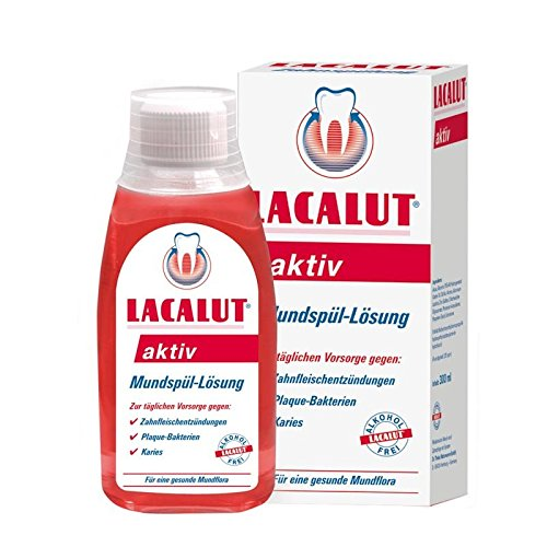 Lacalut aktiv Mundspüllösung 300 ml 3er Pack (3x 300ml)