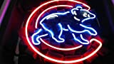 Desung 17'x13' Chicago Sports Team Cub Logo2 Neon Sign (MultipleSizes) Man Cave Sports Bar Pub Beer Glass Light Lamp CX48