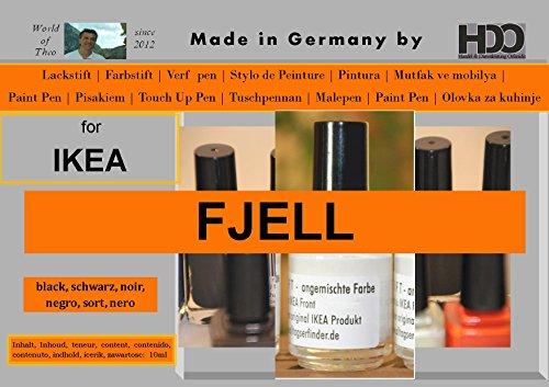 HDO Farbstift Lackstift Touch-up-Pen for Ikea Fjell Black