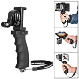 Fantaseal Ergonomic Action Camera Hand Grip Mount w/Smartphone Clip Compatible with GoPro Grip GoPro Holder for GoPro Hero 8 7 6 5/4/3/Session Garmin Virb XE Xiaomi Yi SJCAM Handle Grip Selfie Stick