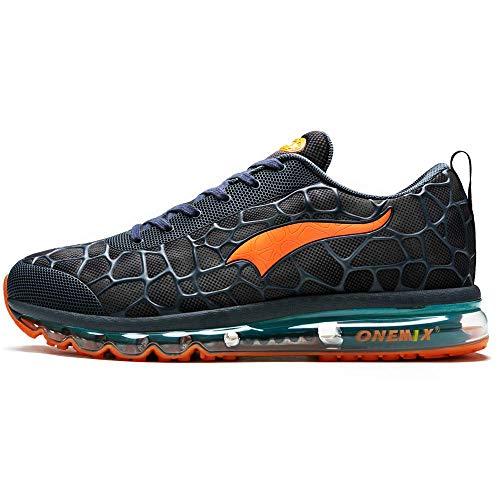 ONEMIX Trail Laufschuhe Herren Air Trailrunning Turnschuhe Sneaker Orange 1096 42 EU