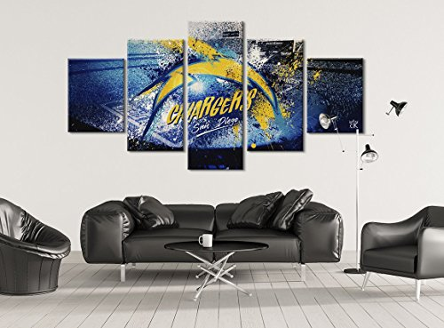Chargers San Diego Football Canvas - Hand Made In The US - Framed And Ready To Hang