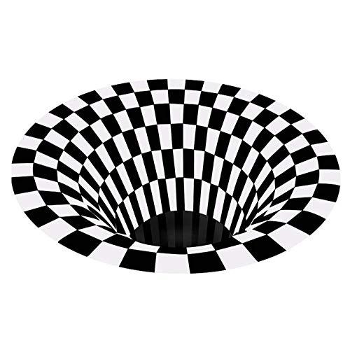 Ledph Alfombra De Puerta, Moderna Alfombras IlusióN Efecto Trampa, 3D Alfombra De ImpresióN Dormitorio Estar, Alfombra Piso per Salon Cocina, Alfombra De Habitacion Juvenil Antideslizante,160 * 160cm
