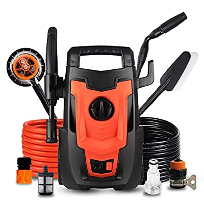 High Pressure Washer,Power Washer,1400W 110 Bar Induction Motor Patio Cleaner Portable High Power Washer With Accessories Jet Washer Lightweight Car Wash For Home/Garden/Decking/Vehicles,Baccessories by dljxx