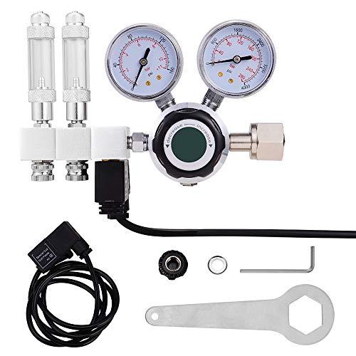 InLoveArts Aquarium CO2-Regler mit 2-teiligem Blasenzähler/Rückschlagventil/Magnetventil Geeignet für Aquarien- und Aquarium-Wasserpflanzen zur Einstellung des CO2-Niveaus