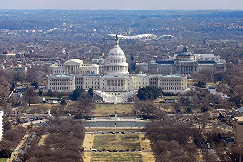 Rompecabezas para Adultos 1000 Piezas Washington DC, Rompecabezas del Edificio del Capitolio De Los EE. UU. para Un Amigo
