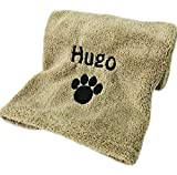Personalised Microfibre Dog Towel | Embroidered | Super Absorbent | 110 x 60 cm | Camping and Hiking Towel for Dogs | Lightweight