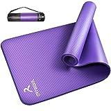 arteesol Yogamatte Non-Slip NBR Material Gymnastikmatte 185cm * 80cm * 1/1,5cm Fitnessmatte für Yoga Pilates Fitness Workout & Gymnastik Trainingsmatte (Lila, 185x80x1cm)